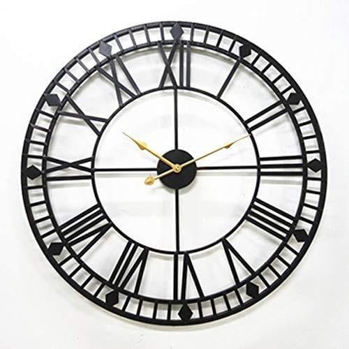 SAS 80 Centimetri Metallo Orologio da Parete di Grandi Dimensioni dal Design Moderno Stile Antico...