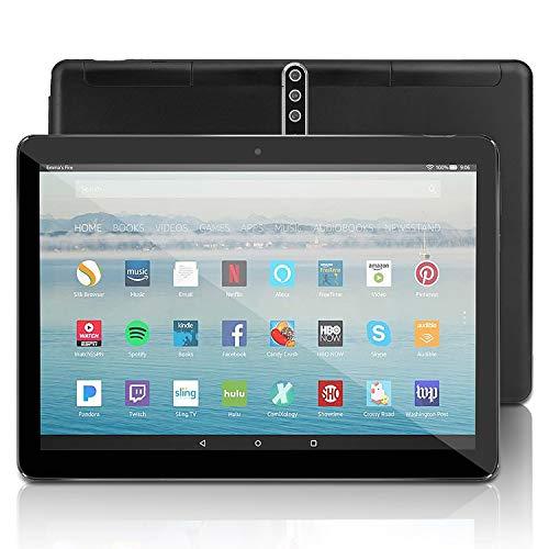 Android Tablet 10 Zoll mit SIM-Karte Slots - 5G Wi-Fi 4GB RAM 64GB ROM Octa Core , Android 9.0,3G entsperrt GSM Phone Tablet PC mit WiFi Bluetooth GPS Netflix YouTube, 5000 mah Akku , U1