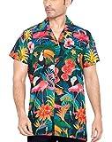 CLUB CUBANA Chemise Hawaiienne Classique, Étroite, Florale, Décontractée À Manches Courtes pour Hommes XL