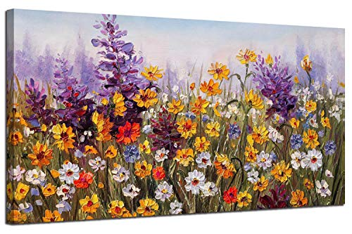 Ardemy Canvas Wall Art Daisy Colorful Bloosom Flowers Artwork...