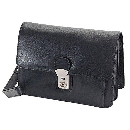 GoBago Branco Business Herren Handgelenktasche Herrentasche Tasche sehr hochwertig (Schwarz)