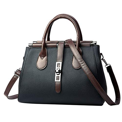 """51pMXW6ANVL 💼 Material: PU--Fashionable and durable. Diffrent ways to carry, you can use the bag as Tote, Shoulder Bag or Crossbody Bag. Back to School Supplies Essentials Off to College Deals 2019-It is a great gift for Girlfriend, Lover, Holiday Gifts, Birthday, Thanksgiving, Christmas, New Year, Valentine's Day etc. It is very suitable for Wedding , party, ball, daily casual wearing, travel, office occasion. Size: 27cm(L)x10cm(W)x22cm(H)/10.62(L)x3.39(W)x8.66(H)"""". 💼 You can carry it as a single-shoulder bag or backpack as there is a removable short shoulder strap. Back Zipper Closure, Effective anti-theft design. Water resistant backpack keeps your items from not easily getting wet. 💼 If this item doesn't meet your expectations, please do not hesitate to inform us, and our service team will provide best solution. For quality problems or defective items, there are full refunds or free replacement for you."""
