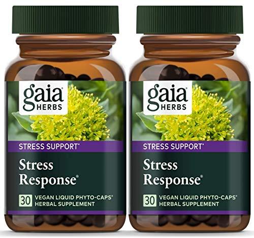 Gaia Herbs Stress Response, Vegan Liquid Capsules, 30 Count...
