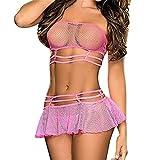 Flydo Mujer Conjunto De Lencera Sexy Ertico Clubwear Ropa Interior de Cuero Patente Stripper Vestido...