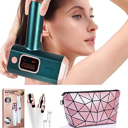 Depilatore professionale a Luce Pulsata VADRIK PRO-486, Sistema di depilazione per Donna Uomo, 999999 flashs, per il corpo,viso, gambe, bikini con 5 Impostazioni di Intensit