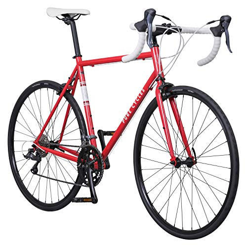 Pure Cycles Classic 16-Speed Road Bike, 60cm/XX-Large, Trentino Red