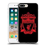 Head Case Designs Officially Licensed Liverpool Football Club Black 2 Crest 1 Soft Gel Case Compatible with Apple iPhone 7 Plus/iPhone 8 Plus
