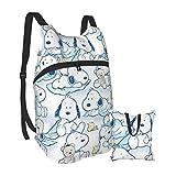 Snoopy - Mochila plegable y portátil, ligera, plegable, para viajes, senderismo, resistente al agua, camping, al aire libre, plegable, para hombres, mujeres, viajes, senderismo, mochila impermeable