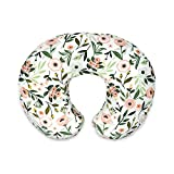 Boppy Nursing Pillow and Positioner—Original   Pink Garden Flowers   Breastfeeding, Bottle Feeding, Baby Support   with Removable Cotton Blend Cover   Awake-Time Support , 20x16x5.5 Inch (Pack of 1)