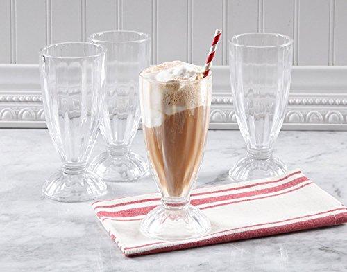 Gibson Home 4 Piece Milk Shake Glass Set