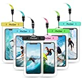 Procase Universal Waterproof Pouch Cellphone Dry Bag Underwater Case for iPhone 11 Pro Max Xs Max XR 8 7 Galaxy S20 Ultra up to 6.9', Waterproof Phone Case for Beach Swimming Snorkeling -6 Pack