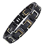COOLMAN Bracelets en Acier Inoxydable 316L pour Homme, Réglable, avec...