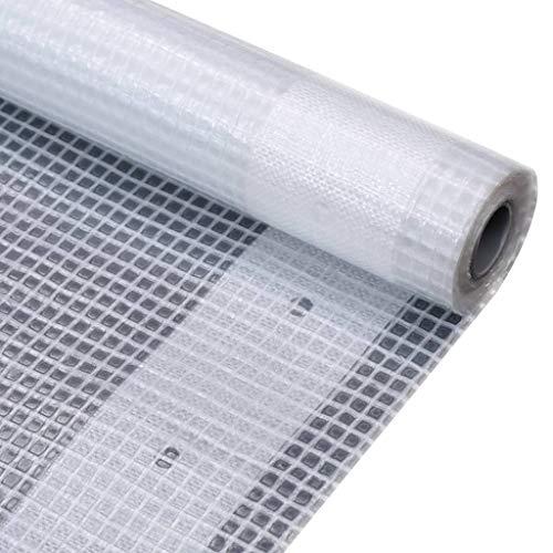 vidaXL Lona Impermeable 260 g/m² 4x8 m Blanca Cubierta Plástico de Invernadero