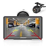 AWESAFE GPS para Coches con 7 Pulgadas Pantalla LCD con Bluetooth y Cámara Trasera, Navegador GPS...