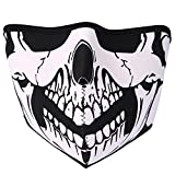 JewelryWe Accessoires Masque Protection Demi Cagoule Ghost Tete de Mort Skull Airsoft Paintball...