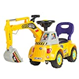 Best Choice Products Kids Excavator Ride On Truck w/ Garden Set, Music, Lights, Storage, Yellow