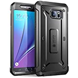 SUPCASE [Unicorn Beetle Pro Series] Case Designed for Samsung Galaxy Note 5, [Heavy Duty] Full-Body Rugged Cover with Built-in Screen Protector (Black)
