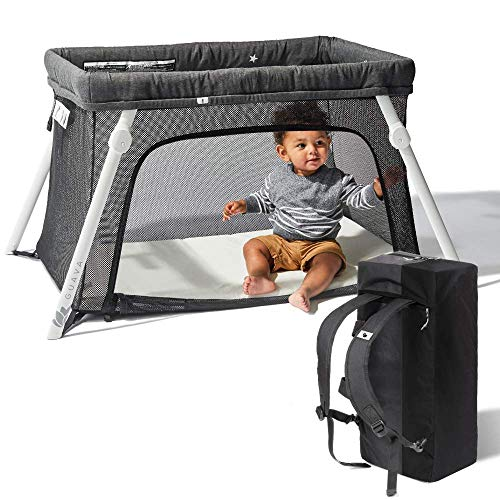 Lotus Travel Crib - Backpack Portable, Lightweight, Easy to Pack Play-Yard with...