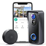 Victure Wireless Video Doorbell Camera with 1080P HD, Smart Motion Detection, Wide Angle, 2-Way Audio,Local Storage,IP65 Weatherproof for Home Security and Easy Installation
