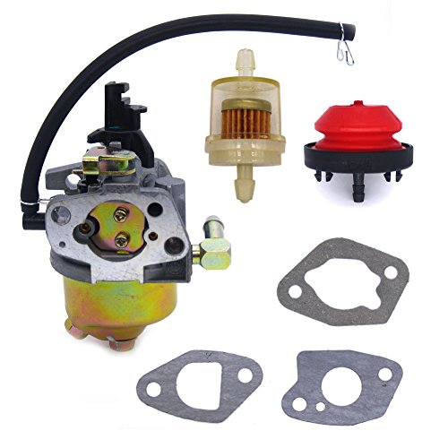 FitBest Carburetor with Primer Bulb Fuel Filter for MTD Troy Bilt Cub Cadet Snow Blower 951-10974 / 951-10974A / 951-12705