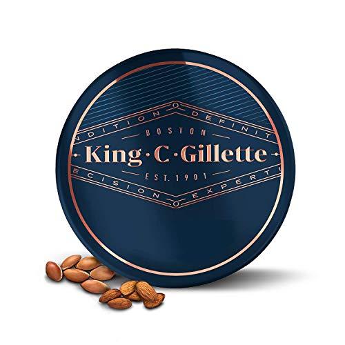 King C. Gillette Balsamo Delicato per la Cura della Barba da Uomo con Burro di Cacao, Olio di Argan e Burro di Karite, 100 ml
