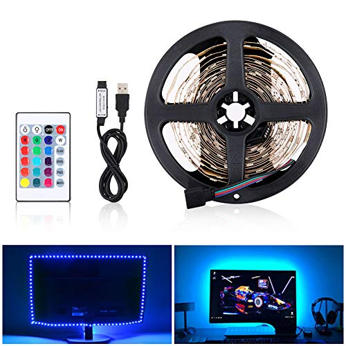LED Striscia RGB 4M LED TV Retroilluminazione Striscia 120LED 5V SMD 5050, USB Bias TV LED...