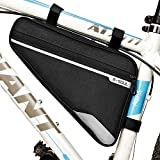 Bike Bicycle Triangle Frame Bag - Bike Bicycle Storage Bag Pack Bike Accessories Water Resistant Road Mountain Cycling Strap Saddle Pouch Bag