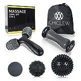 Chiclew Balles de Massages Set de 5Pcs-Rouleau de Massage, Rouleau en Y,...