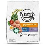 NUTRO NATURAL CHOICE Large Breed Senior Dry Dog Food, Chicken & Brown Rice Recipe Dog Kibble, 30 lb. Bag