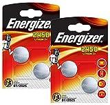 Energizer CR2450 DL2450 piles bouton 3 V au lithium, Lot de 4