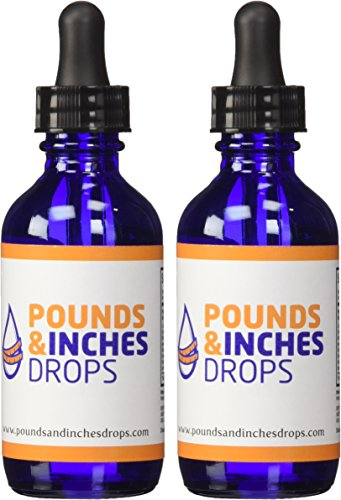 Pounds and Inches Drops Two 2 Ounce Diet Drops Bottles. Contains 2 Weight Loss Drops and Rapid Weight Loss Guide and Weight Tracker 10