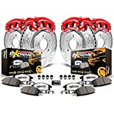 Power Stop KC2154-36 Z36 Truck & Tow Front and Rear Caliper Kit-Drilled/Slotted Brake Rotors, Carbon-Fiber Ceramic Brake Pads, Calipers