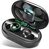 Donerton Bluetooth Kopfhörer, V5.0 Wireless Earbuds mit 150H Spielzeit,True Wireless In Ear Kopfhörer Kabellos und IPX8 Wasserdicht, Touch-Control, Deep Bass HD-Stereo, Battery LED Display