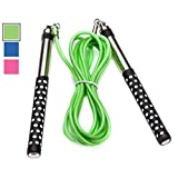 DYNAPRO Limited TIME Offer Jump Rope (Long Aluminum Handles 10' Adjustable PVC Cable) for Boxing Cardio HIIT Workouts and Home Gym Fitness Exercise