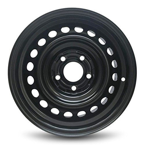 Road Ready Car Wheel For 2003-2007 Honda Accord 15 Inch 5 Lug Black Steel Rim Fits R15 Tire - Exact OEM Replacement - Full-Size Spare