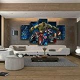 ZEMER The Avengers Impressions sur Toile Murale 5 Pièces Marvel Superhero...