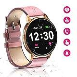 Montre Intelligente Bluetooth pour Femme, étanche avec écran Tactile de 1,3...