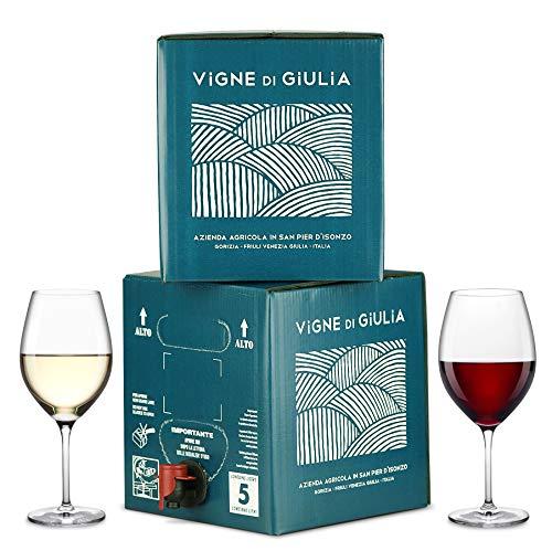 Bag in Box vino Friulano 5L + Bag in Box vino Cabernet 5L - Vigne di Giulia