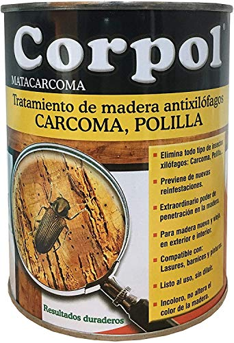 CORPOL - Protector Madera Mata Carcoma y Tratamiento Anti Po