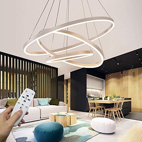 Moderna lampada a sospensione a LED, 3 anelli collezione di vernice bianca, applique a sospensione a...