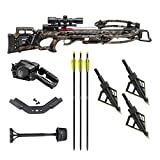 TenPoint Turbo M1 380 FPS Crossbow with ProView 3 Scope and ACUdraw PRO Kit with 3-Pack HME Hunting Broadheads (2 Items)