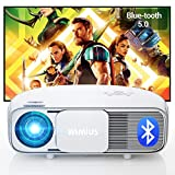 Proyector, WiMiUS Proyector Bluetooth Full HD 1920x1080P Vídeoproyector Soporta 4K y Audio AC3 Proyector Cine en Casa, 100,000H 300 '' Proyector LED para TV Stick, PS4, PC HDMI, AV y USB