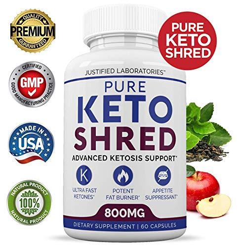 Pure Keto Shred Advanced BHB Ketogenic Supplement Exogenous Ketones Ketosis for Men Women 60 Capsules 2