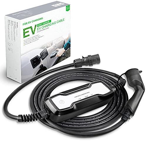 Morec Portable Tipo 2 EV Cargador portátil conmutable 10 / 16A 2.2/3.6kw, 6.5 Metros
