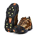 Crampons Antidérapant sur Chaussures/Bottes 10 Clous à Neige Grips Crampons Pointes Glace Traction...