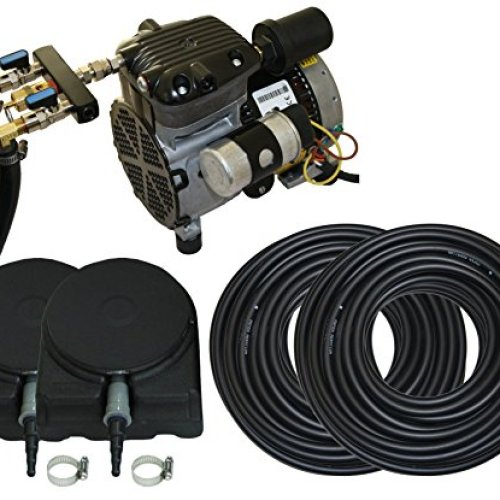 Complete Pond Aeration Kit   Rocking Piston Aerator + 200' of Weighted Tubing + 2 Diffusers