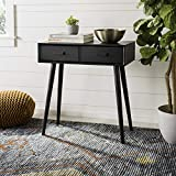 Safavieh Home Dean Mid-Century Modern Black 2-drawer Console