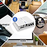 6-Channel Bluetooth Audio Marine Amplifier - 600 Watt Power Compact Weather Resistant Audio Amp Wireless Receiver System W/ MP3, USB, SD Reader, Volume Bass Treble Control, LCD Digital Screen - Pyle