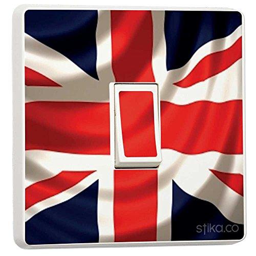 Union Jack UK Britische Flagge Lichtschalter-Sticker, haut