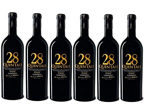 Vino Rosso Montepulciano d'Abruzzo D.O.C.G. Riserva 2013 - Cantine'LAMPATO' Colline Pescaresi-Abruzzo-Italy - Box da 6 Bottiglie da 0,75 lt.
